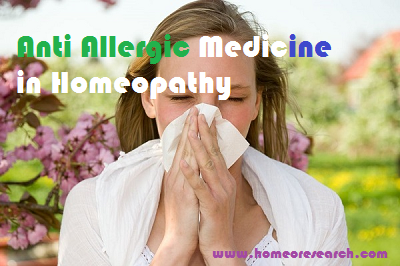 anti allergic remedy in Homeopathy