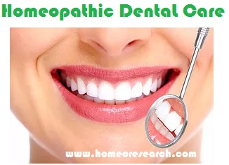 homeopathic dental care