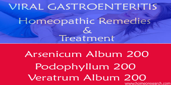 Viral Gastroenteritis Homeopathic remedies