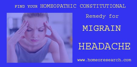 Homeopathy Migraine