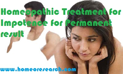 Homeopathic Treatment for Impotence for Permanent result