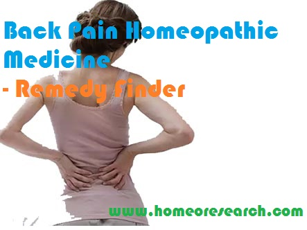 Back Pain Homeopathic Medicine - Remedy Finder