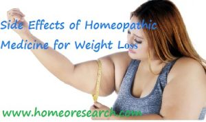 Side Effects of Homeopathic Medicine for Weight Loss