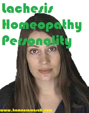 Lachesis Homeopathy Personality