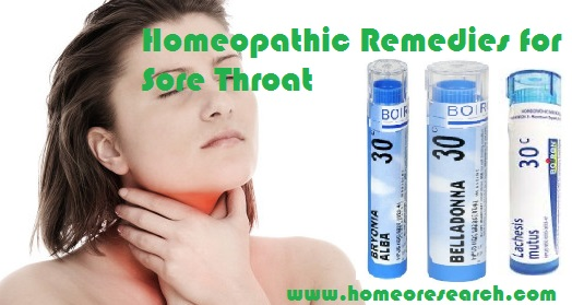 Homeopathic medicine for sore