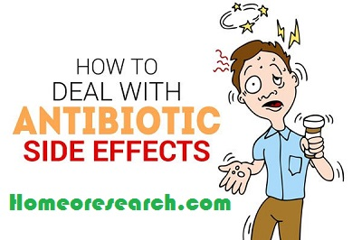 Homeopathic remedies for antibiotic side effects