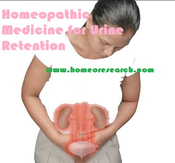 Homeopathic medicine for urine retention - treatment