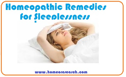 homeopathic remedy for sleeplessness