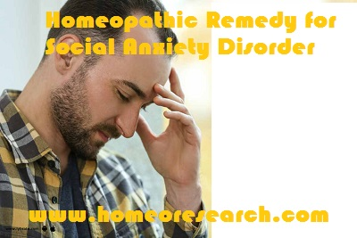 Homeopathic Remedy for Social Anxiety Disorder