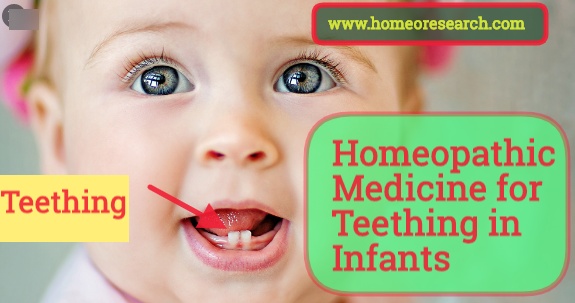 homeopathic medicine for teething in infants