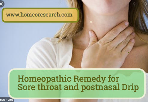 Homeopathic remedy for sore throat and post nasal drip
