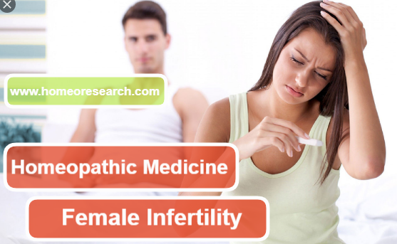 Homeopathic medicine for infertility in female