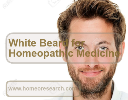 Homeopathic medicine for white hair in beard