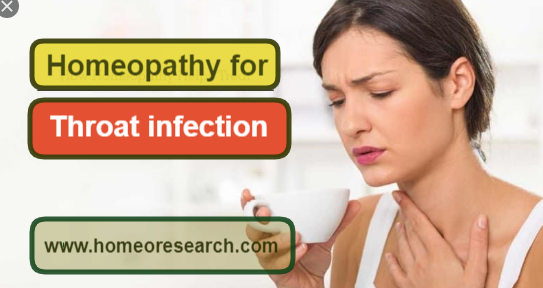 homeopathic medicine for throat infection