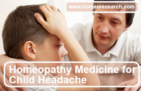 homeopathic remedy for child headache
