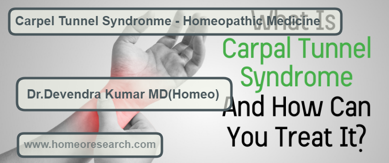 Carpel Tunnel Syndrome Homeopathic medicines